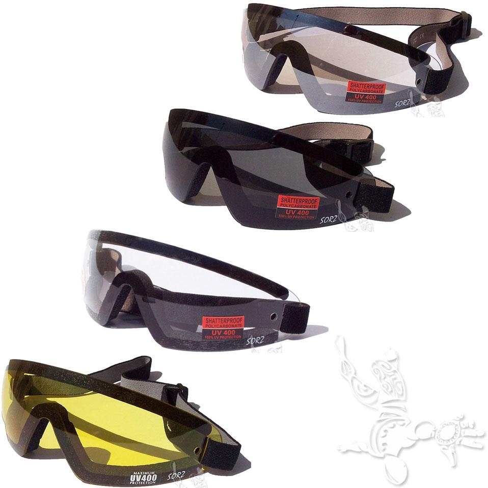 Lunette pour chute libre parachutisme flex z goggles jaune