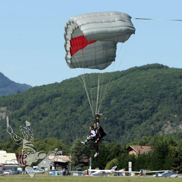 posé en parachute avec Sylvain de GORTER
