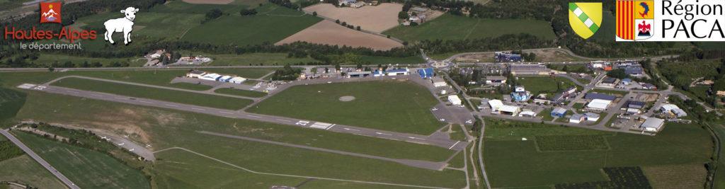 Aérodrome de Gap Tallard vue aérienne