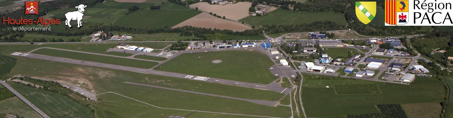Gap Tallard vista aérea aeródromo