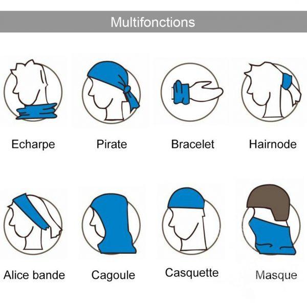 tour du cou bandana utilisation