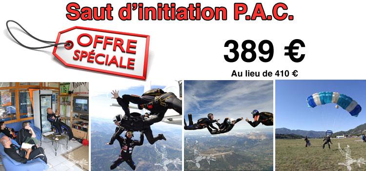 Offre sur un Saut d'initiation au parachutisme PAC